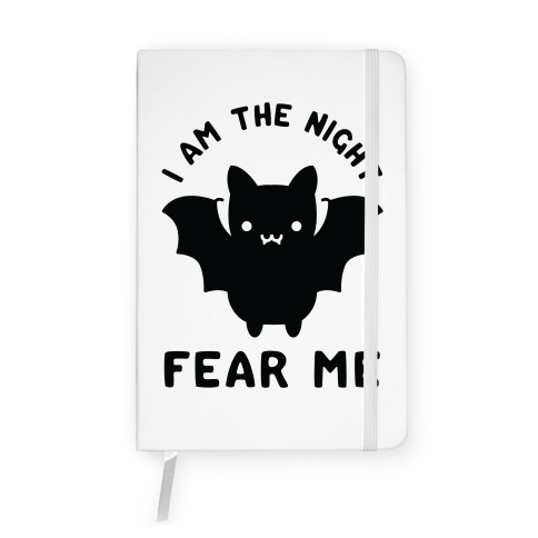 I Am The Night Fear Me Notebook