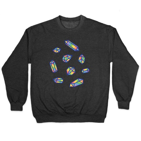 Rainbow Crystal Pattern Pullover