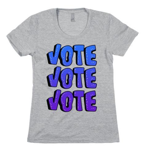 Vote Vote Vote! (Blue Gradient) Womens T-Shirt