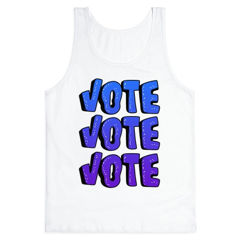 Vote Vote Vote! (Blue Gradient) Tank Top