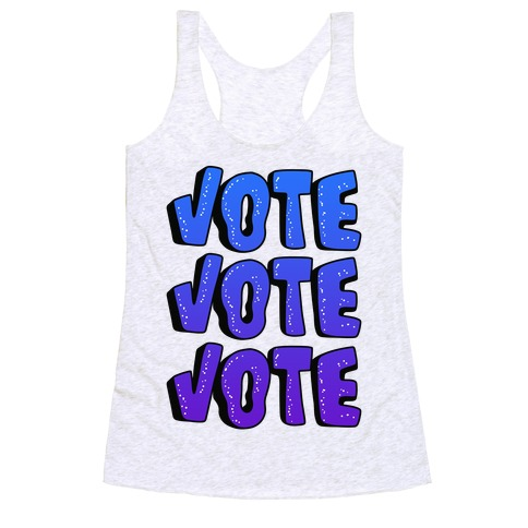 Vote Vote Vote! (Blue Gradient) Racerback Tank Top