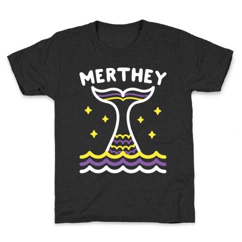 Merthey (Non-Binary Mermaid) Kids T-Shirt