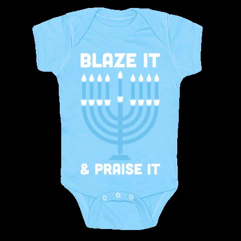 Blaze It and Praise It Baby One-Piece