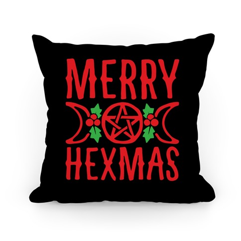 Merry Hexmas Parody Pillow