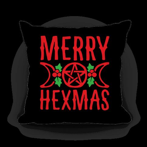 Merry Hexmas Parody Pillow