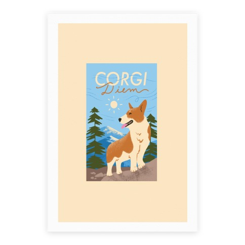 Corgi Diem Poster