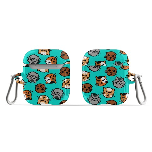 Angry Kitty Pattern AirPod Case
