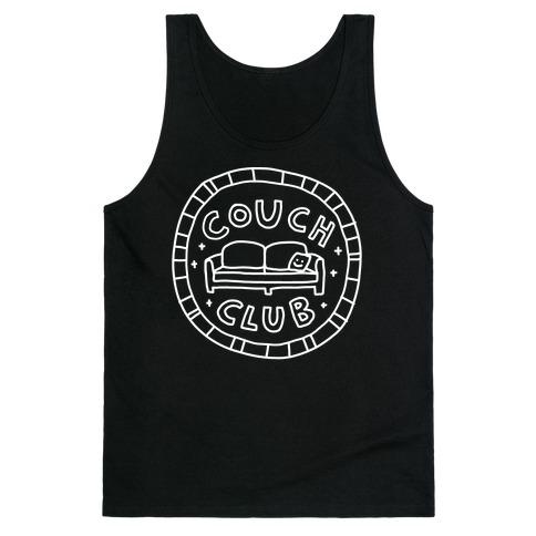 Couch Club Membership Badge Tank Top