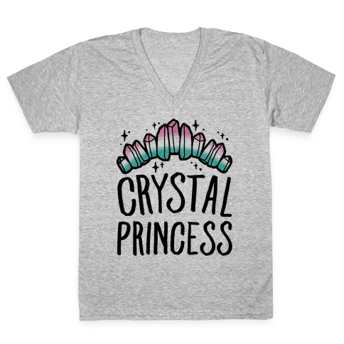 Crystal Princess  V-Neck Tee Shirt