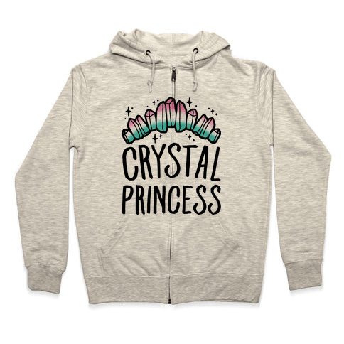 Crystal Princess  Zip Hoodie