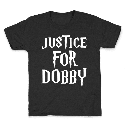 Justice For Dobby Parody White Print Kids T-Shirt