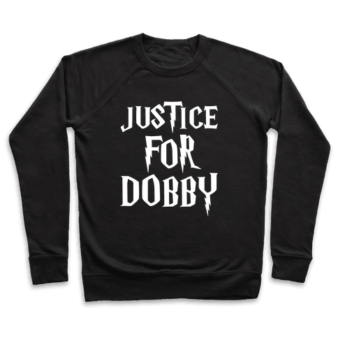 Justice For Dobby Parody White Print Pullover