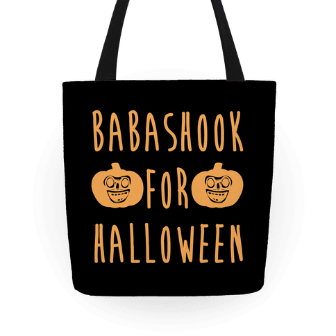 Babashook For Halloween Parody Tote