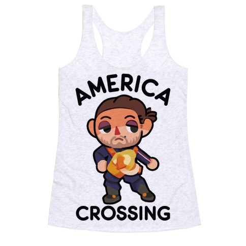 America Crossing Parody Racerback Tank Top