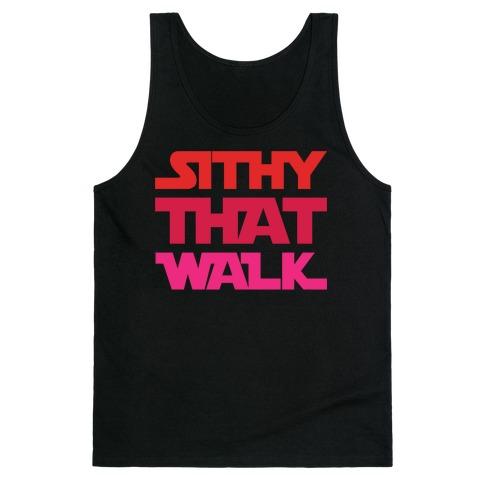 Sithy That Walk Parody White Print Tank Top