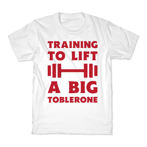 Training To Lift A Big Toblerone Kids T-Shirt