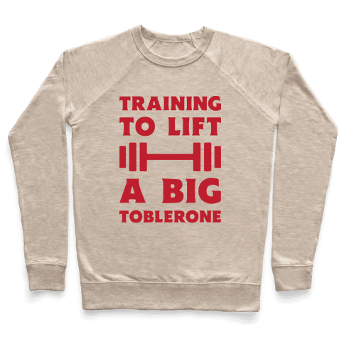 Training To Lift A Big Toblerone Pullover