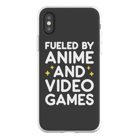 Fueled By Anime And Video Games Phone Flexi-Case