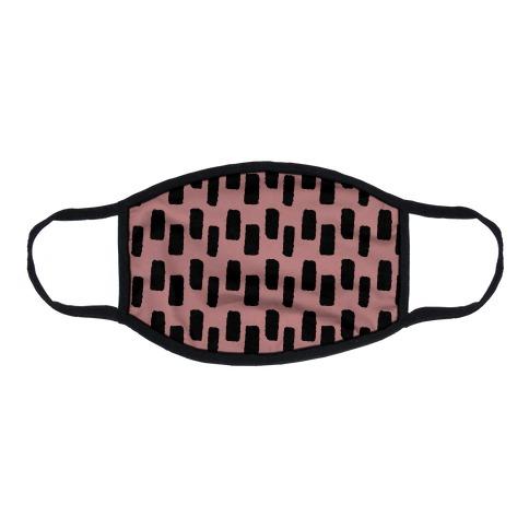 Organic Rectangle Pattern Dusty Pink Flat Face Mask