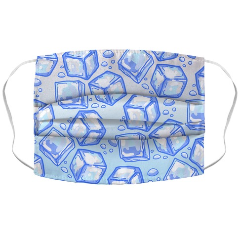 Ice Cube Pattern Accordion Face Mask
