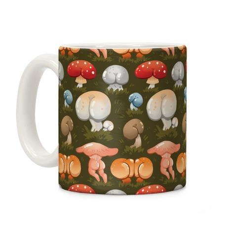Butt Mushroom Pattern Coffee Mug