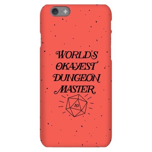 World's Okayest Dungeon Master Phone Case
