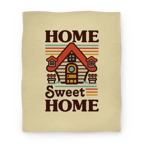 Home Sweet Home Animal Crossing Blanket