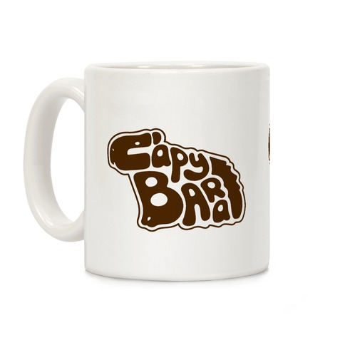 Capybara Font Illustration Coffee Mug
