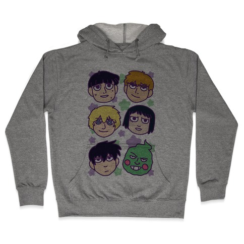 Mob Psycho 100 Pattern Hooded Sweatshirt