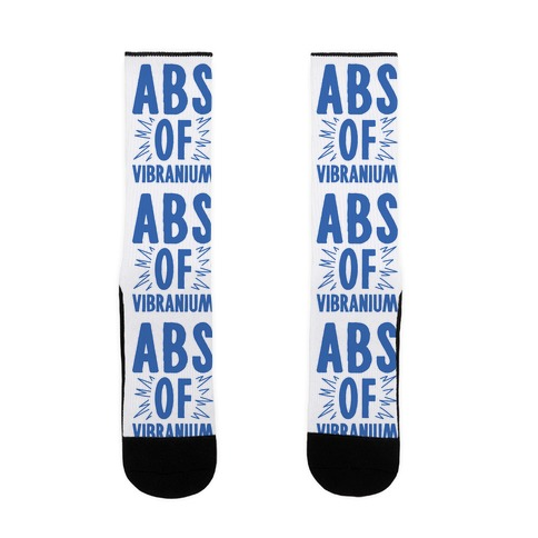 Abs Of Vibranium Parody Sock