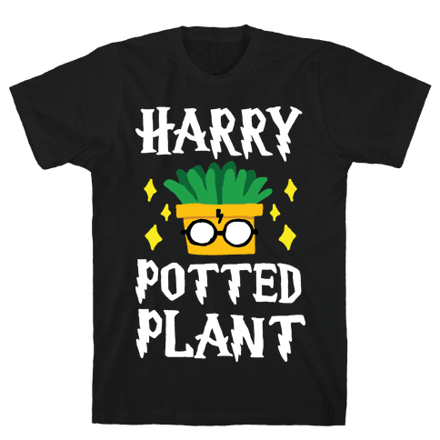 Harry Potted Plant Mens T-Shirt