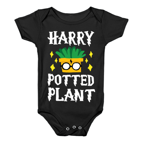 Harry Potted Plant Baby Onesy