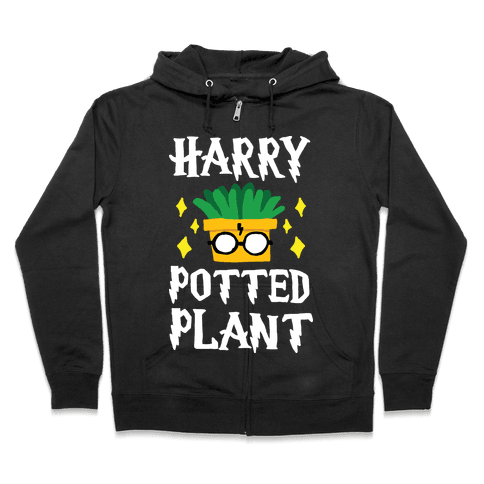 Harry Potted Plant Zip Hoodie
