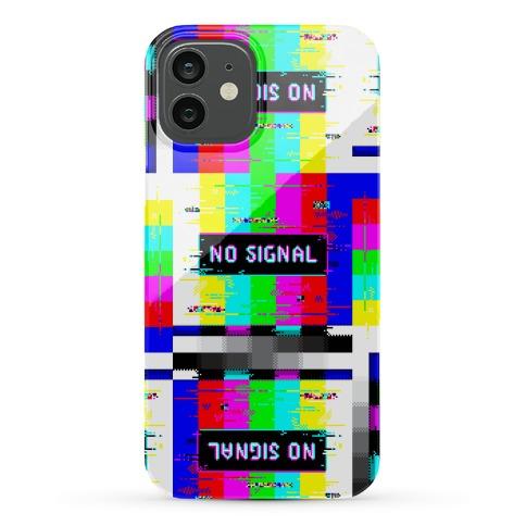 Glitchy No Signal Bars Phone Case