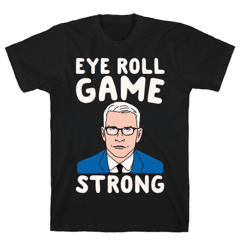 Eye Roll Game Strong White Print Mens T-Shirt