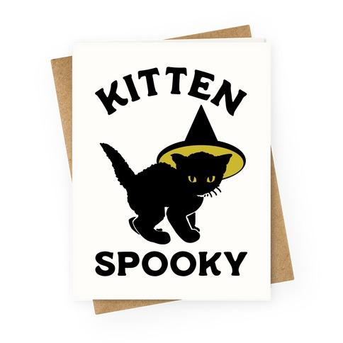 Kitten Spooky Greeting Card