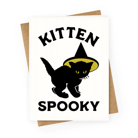 Kitten Spooky Greeting Card