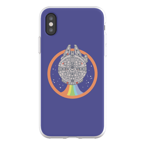 Retro Rainbow Falcon Phone Flexi-Case