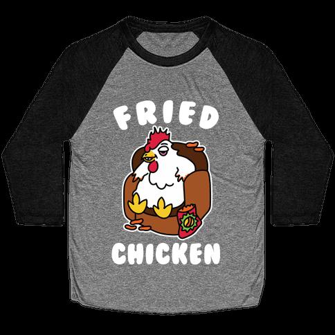 Fried Chicken Baseball Tee