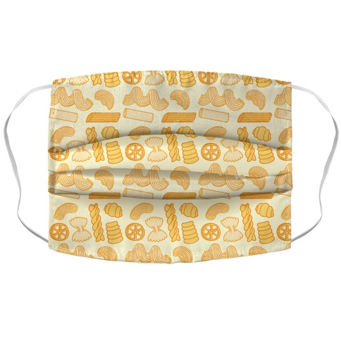Pasta Pattern Accordion Face Mask