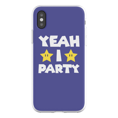 Yeah I Party Mario Parody Phone Flexi-Case