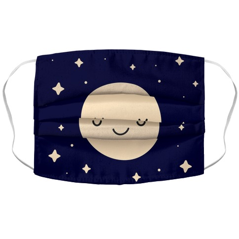 Happy Moon and Stars Accordion Face Mask