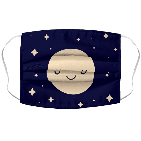 Happy Moon and Stars Face Mask Cover