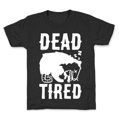 Dead Tired Possum Parody White Print Kids T-Shirt