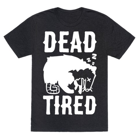Dead Tired Possum Parody White Print T-Shirt