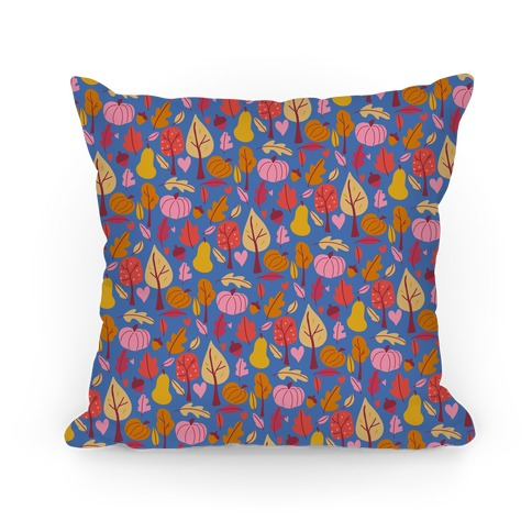 Retro Fall Love Pattern Pillow