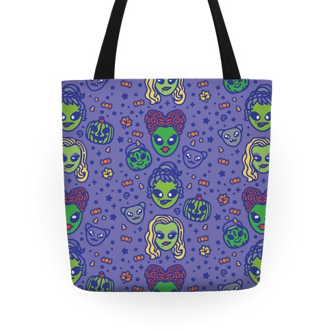Witch Alien Sisters Parody Tote