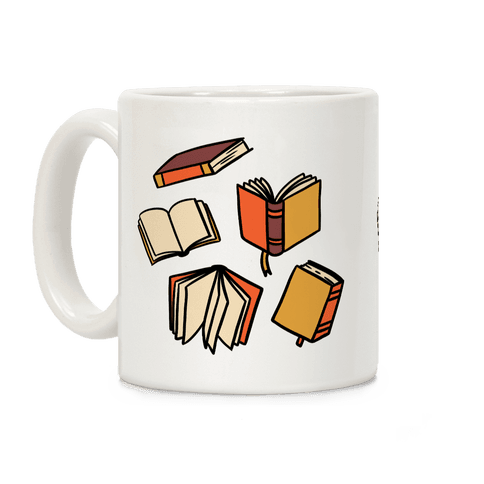 Book Reading Pattern Coffee Mug