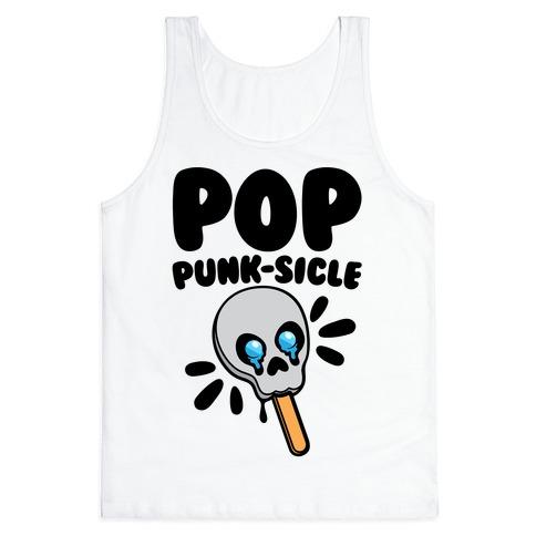 Pop Punk-sicle Parody Tank Top