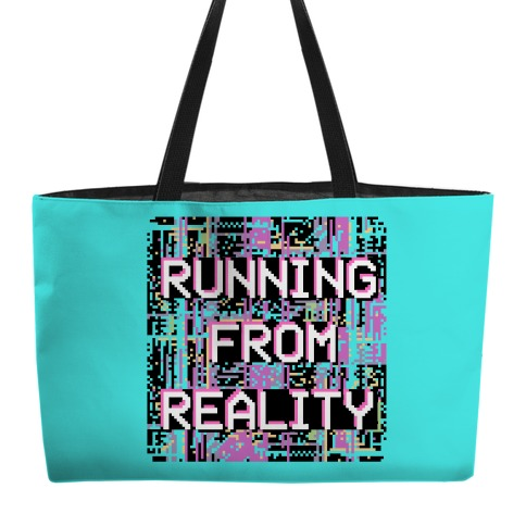 Running From Reality Glitch Weekender Tote